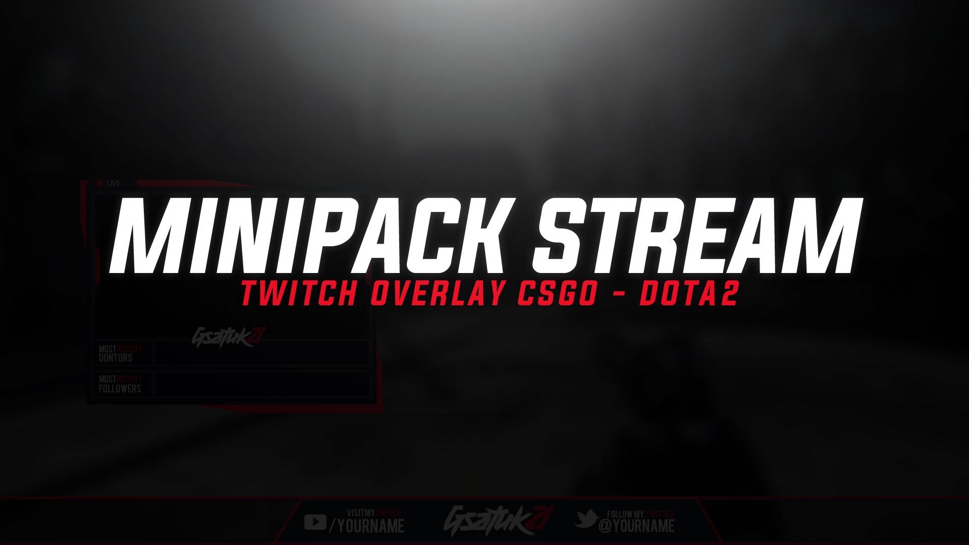 minipack stream twitch overlay csgo and dota 2 nit