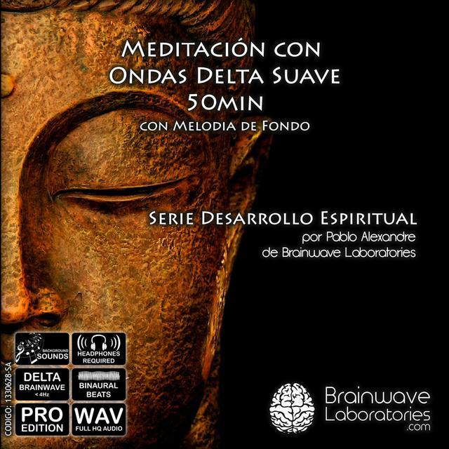 WAV -  Meditación Delta Suave con Melodía de Fondo 50min