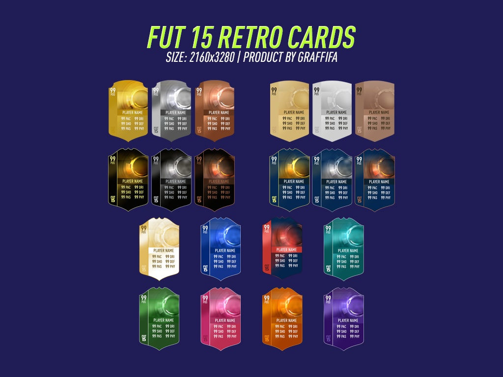 FUT 15 RETRO CARDS