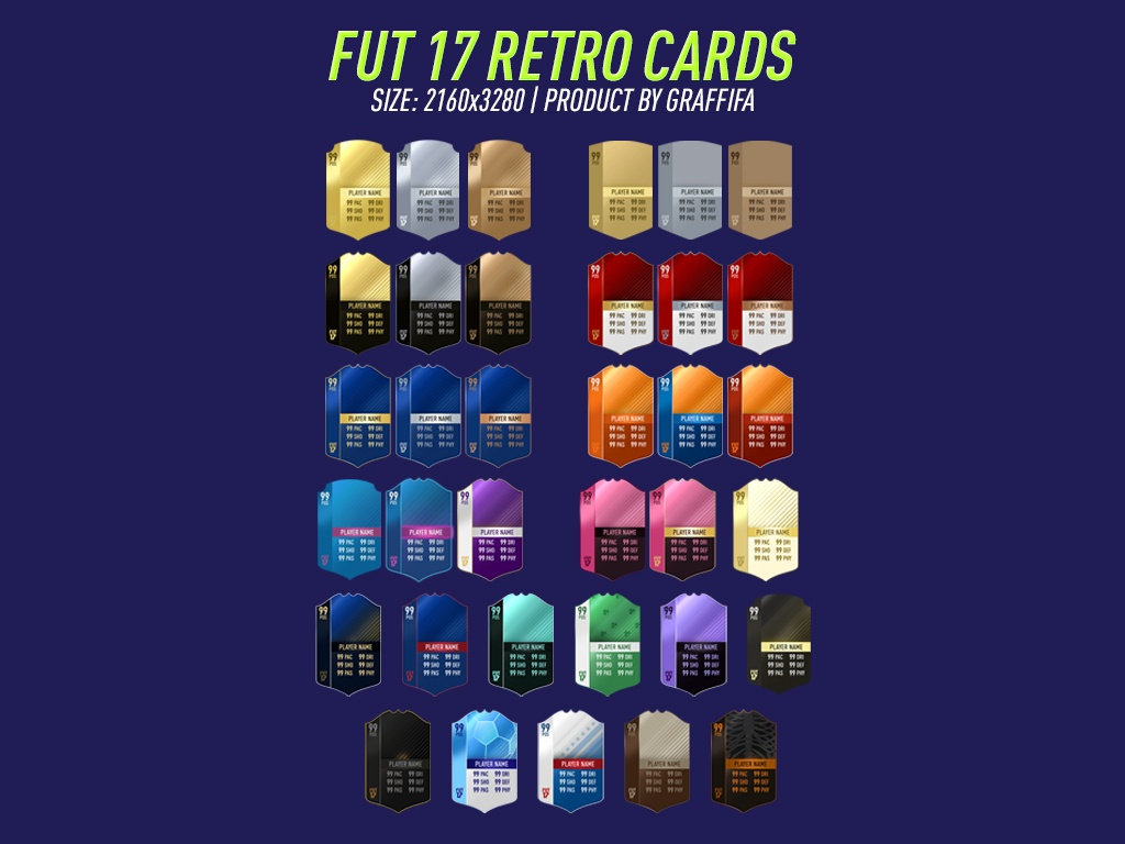 FUT 17 RETRO CARDS