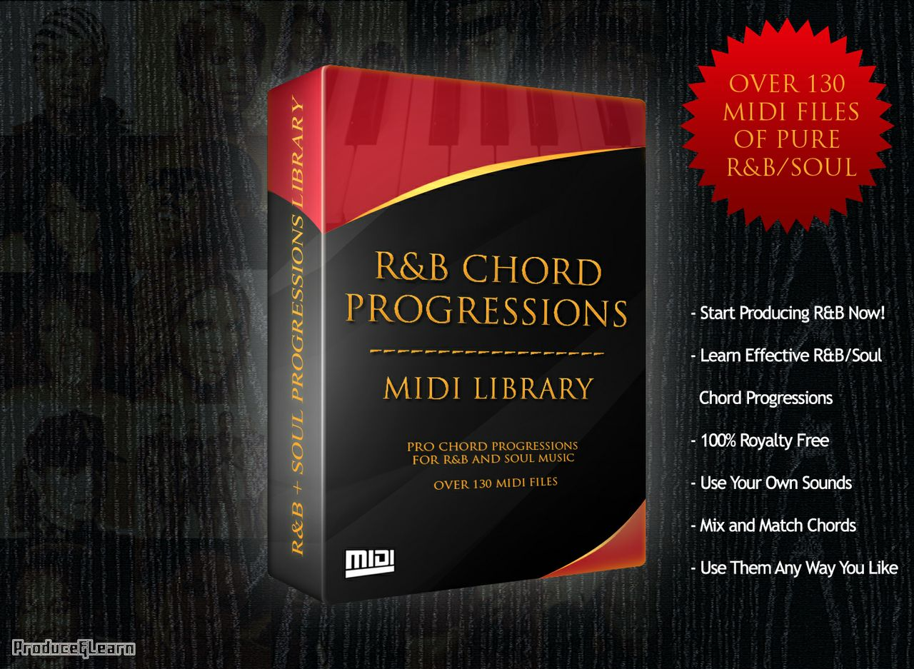 R&B Chord Progression MIDI Library