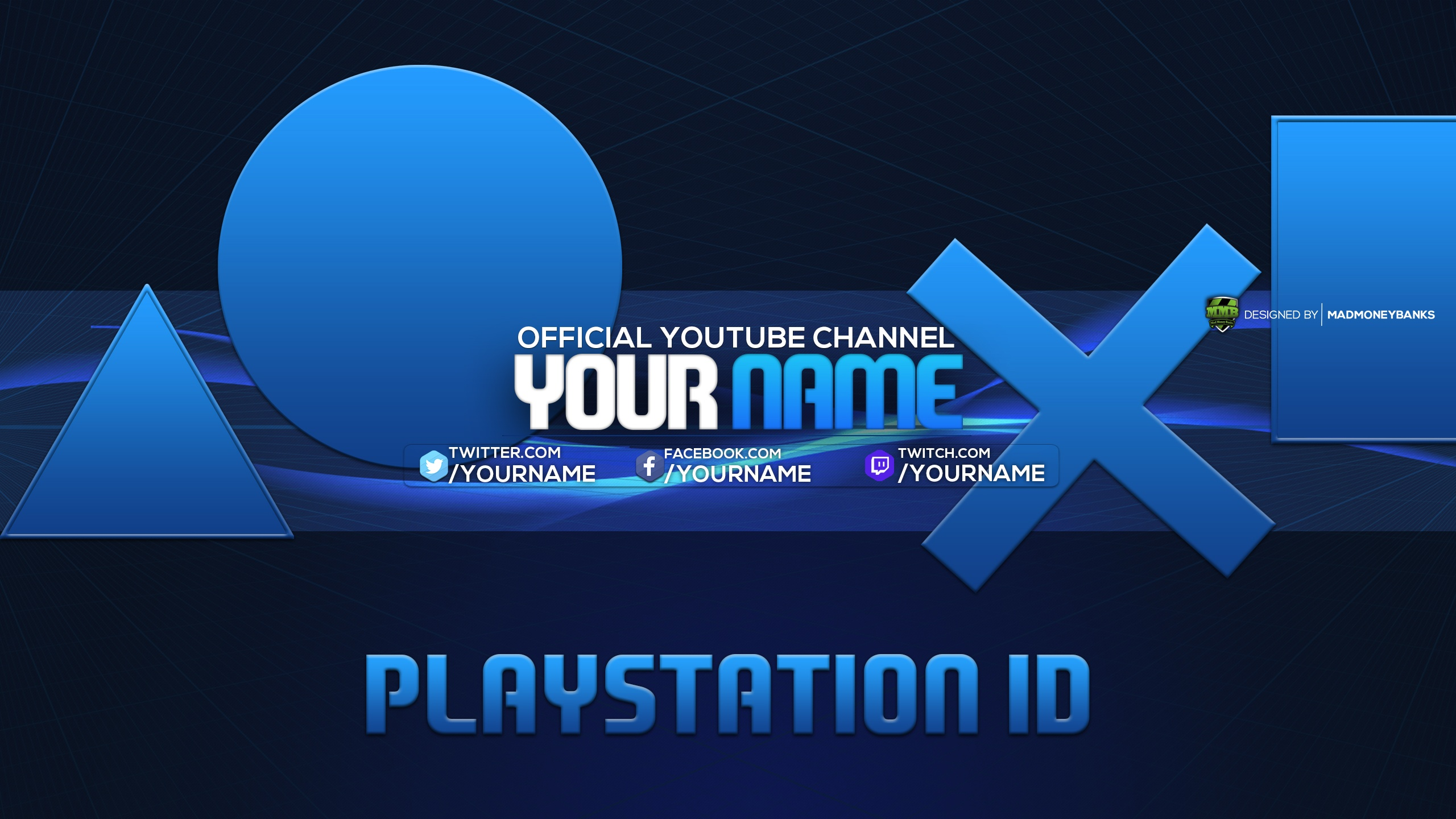 PlayStation YouTube Channel Banner Template