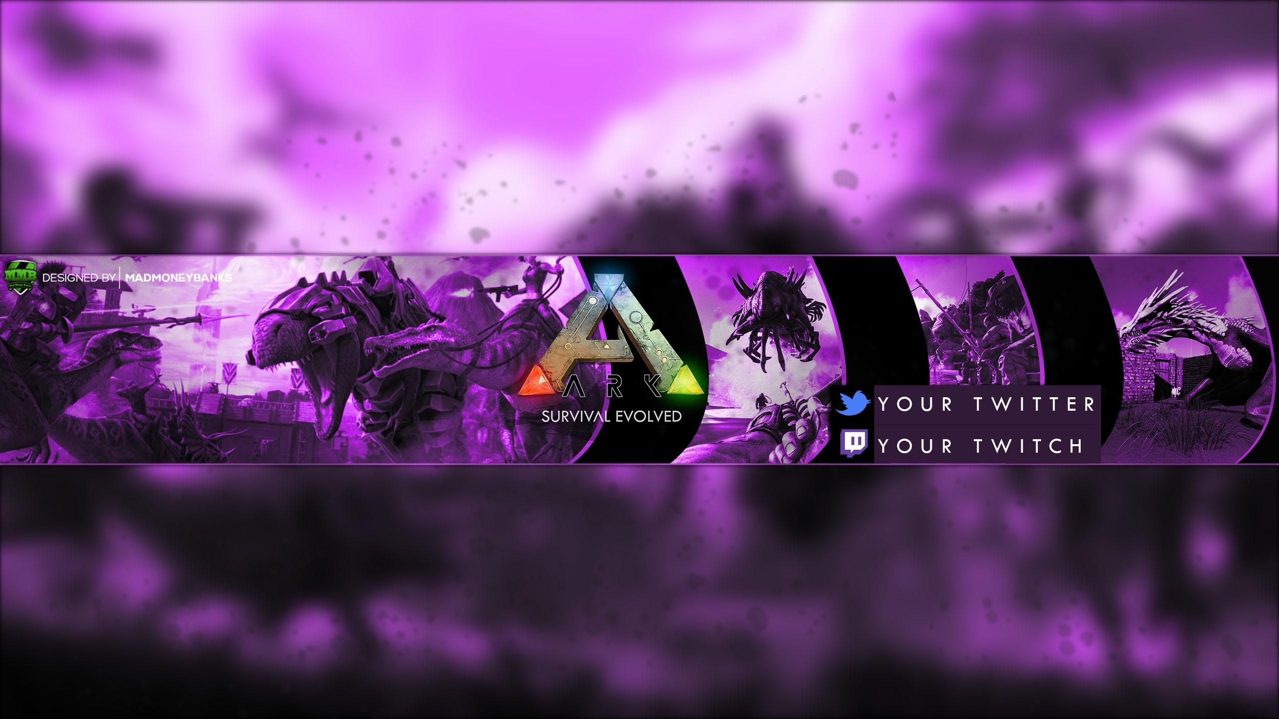 Ark Survival Evolved YouTube Channel Banner Template