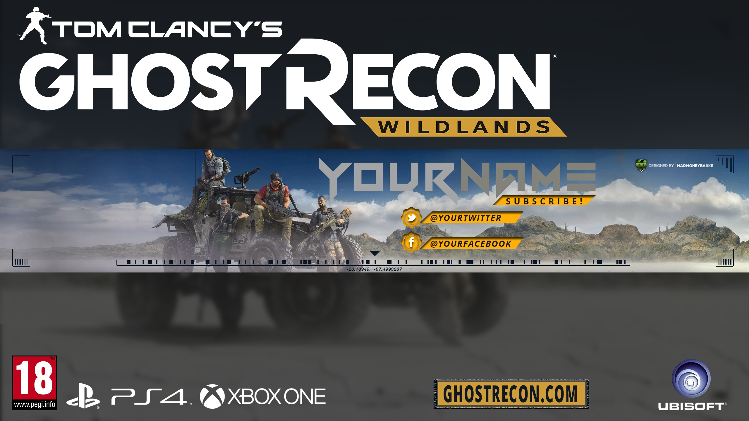 Ghost Recon YouTube Channel Banner Template