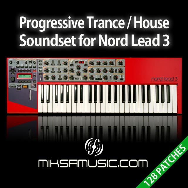 Progressive Trance / House Soundset for Nord Lead 3 - miksamusic.com