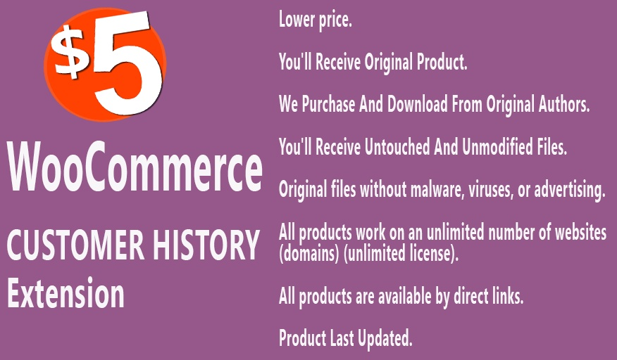 YITH WooCommerce Customer History Extension