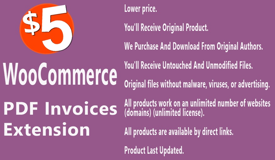 WooCommerce PDF Invoices Extension