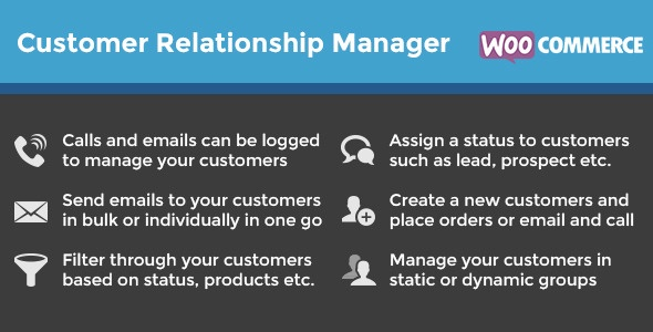 WooCommerce Customer Relationship Manager 3.3.0 Plugin