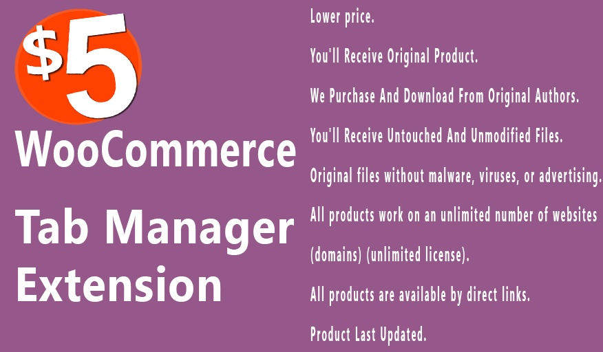 WooCommerce Tab Manager 1.9.0 Extension