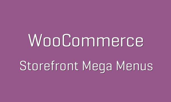 WooCommerce Storefront Mega Menus 1.6.0 Extension