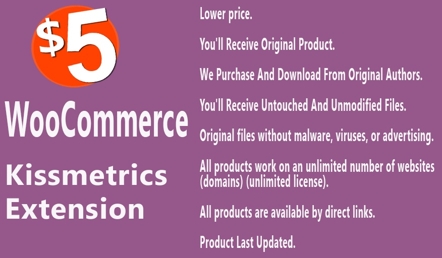 WooCommerce KissMetrics Extension