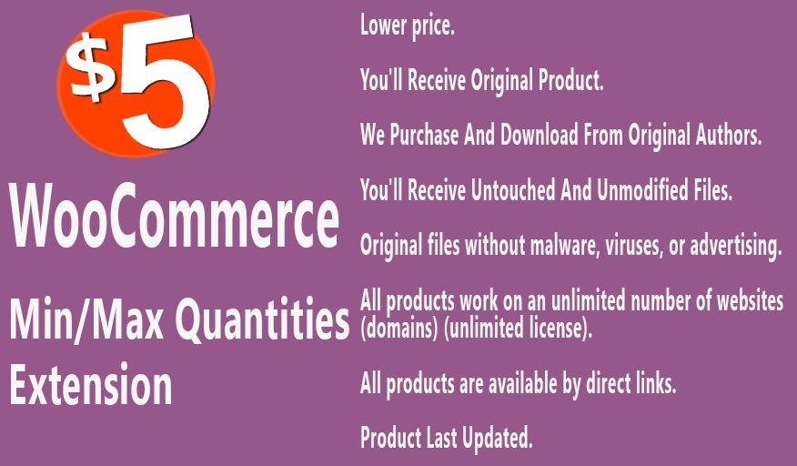 WooCommerce Min Max Quantities Extension