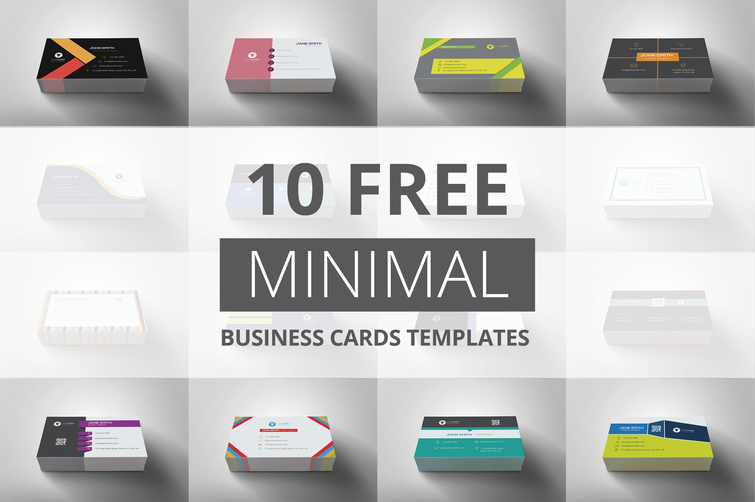 10 Free Minimal Business Cards Templates