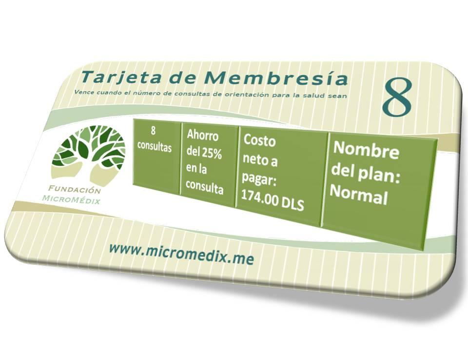 Tarjeta de Membresía plan normal