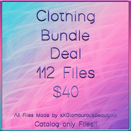 Clothing File Bundle Deal B 112 Files CATALOG ONLY!!!!