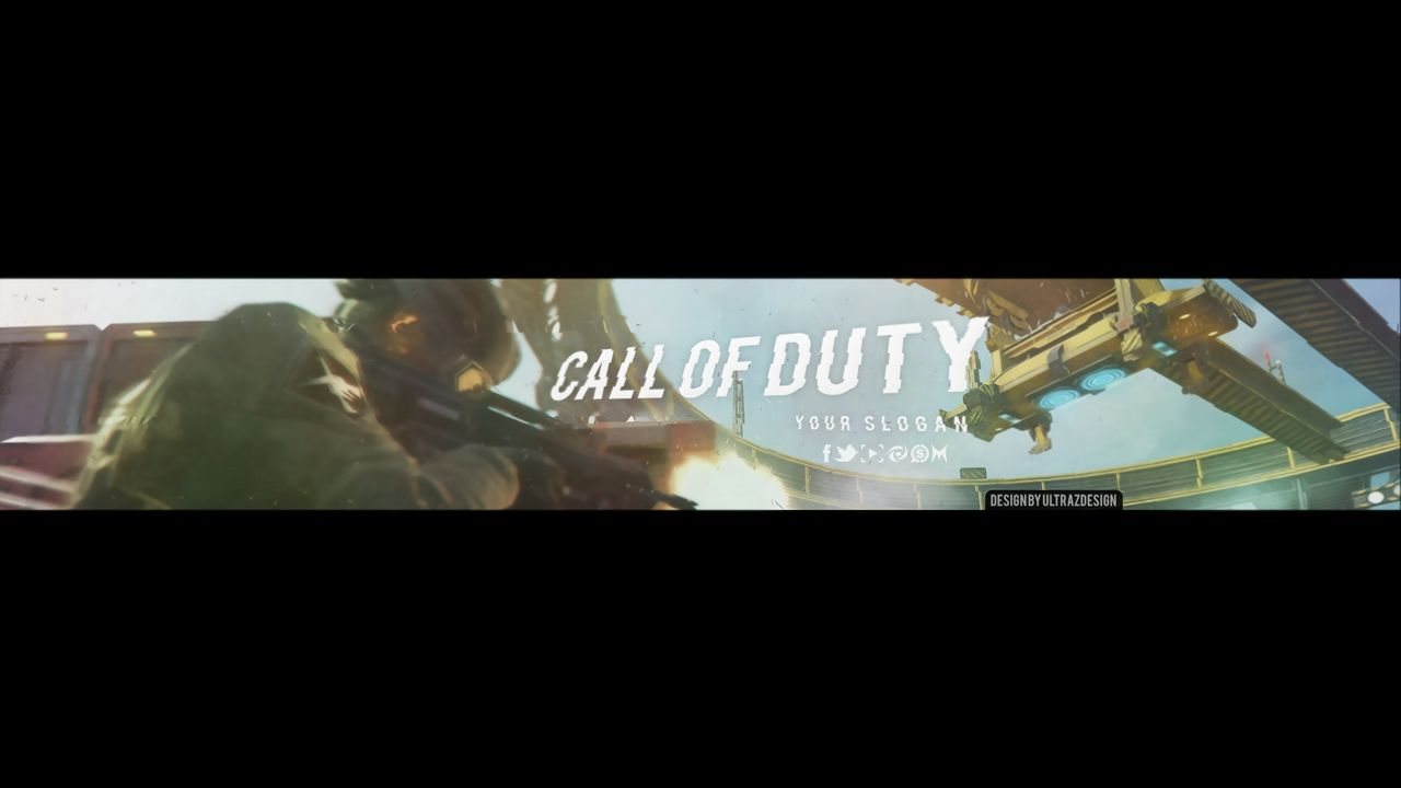 Call Of Duty Banner PSD. -Template-