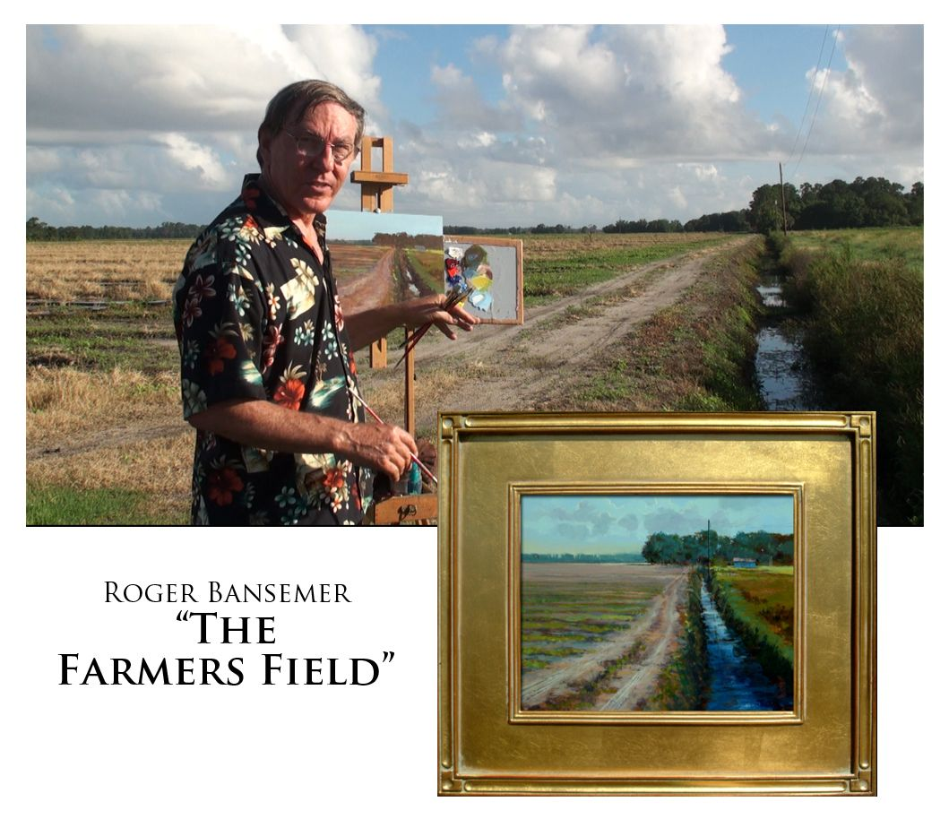 The Farmers Field - Painting demonstration by Roger Bansemer