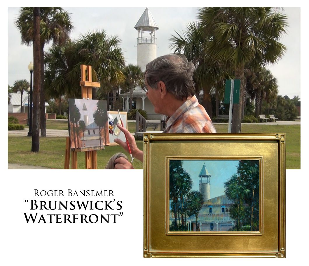 Brunswick Waterfront - Painting demonstration by Roger Bansemer