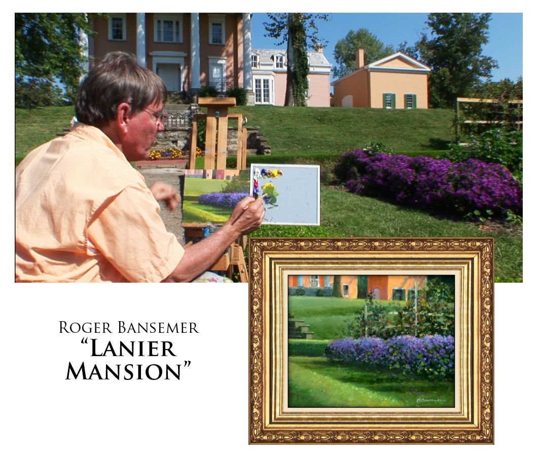 Lanier Mansion - Painting demonstration by Roger Bansemer