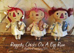 Raggedy Chicks on a Egg Run ePattern