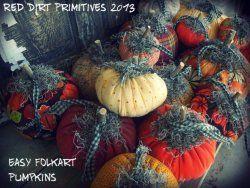 Easy Folkart Pumpkins ePattern
