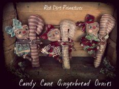 Candy Cane Gingerbread Ornies ePatterns