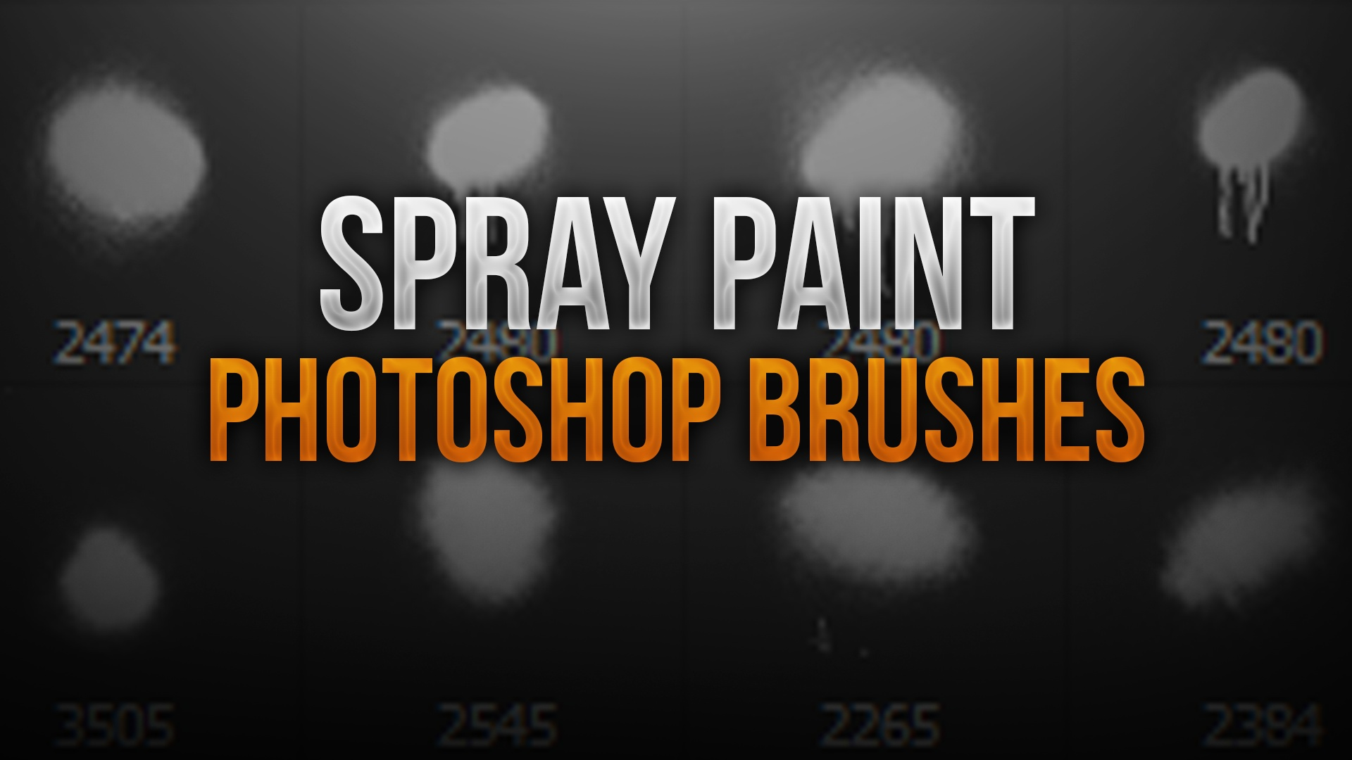 Spray Paint Photoshop Brush Pack