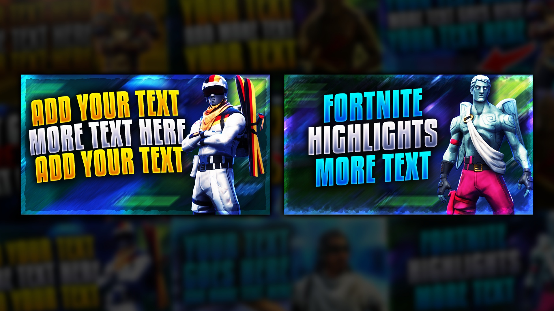 Fortnite Thumbnail Template Bundle Pack 2