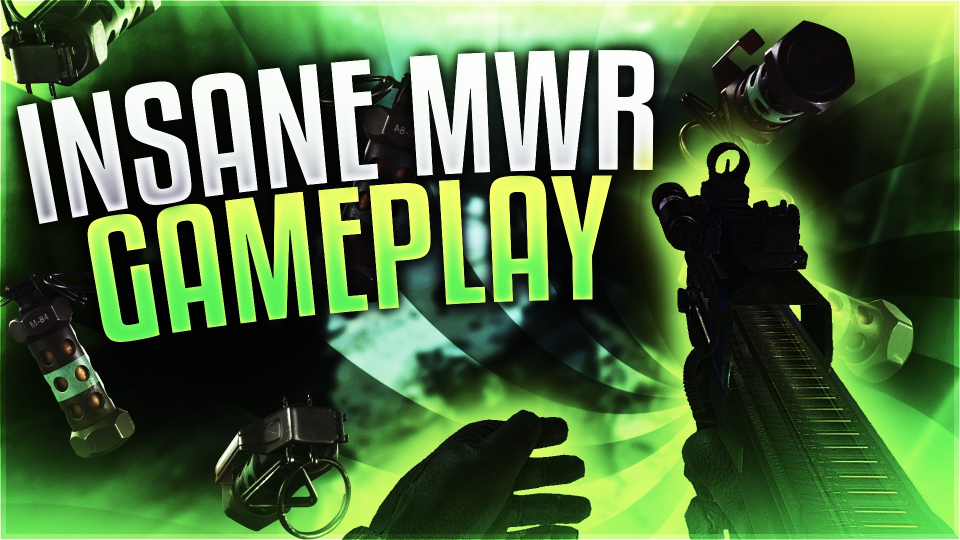 Modern Warfare Remastered Equipment Themed Thumbnail Template v2