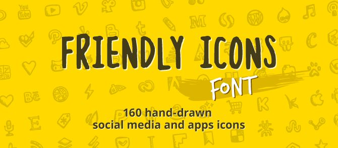 Friendly Icons Font
