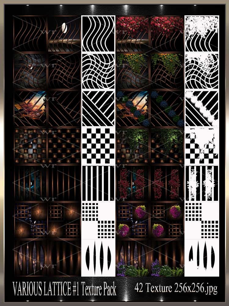 ~ VARIOUS LATICCE #1 IMVU TEXTURE PACK ~