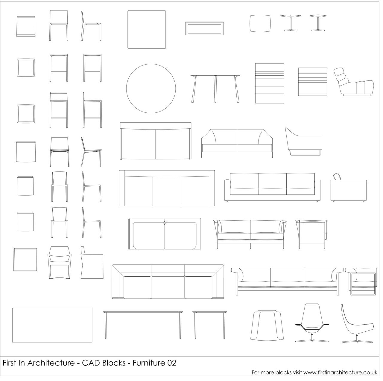 Furniture CAD Blocks 02