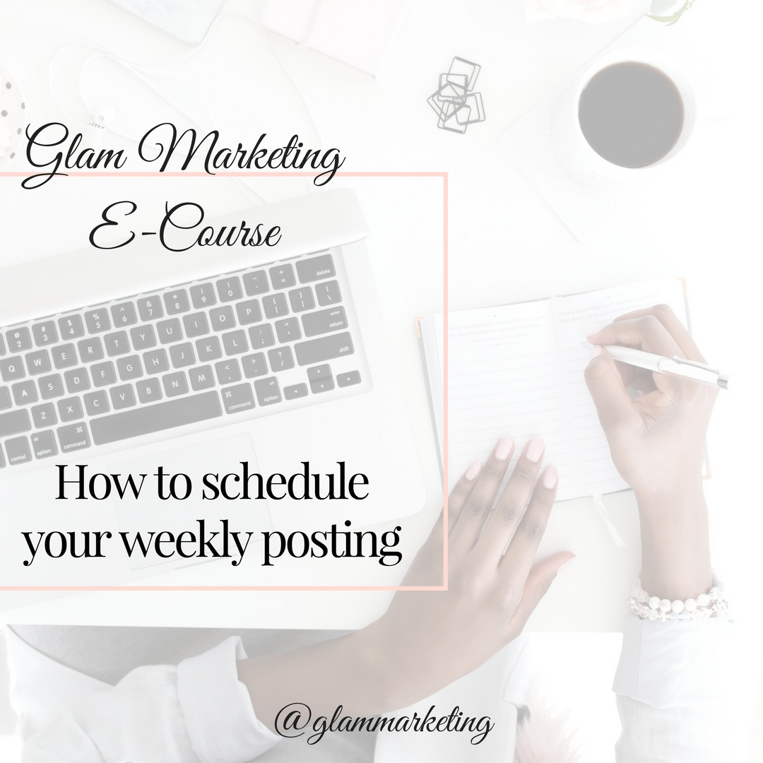 How to Schedule Your Weekly Postings