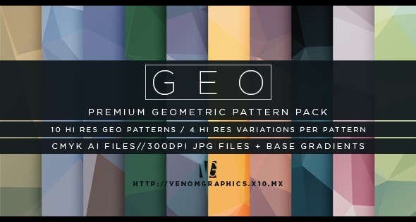 Geo | 10 Low Poly Geometric Backgrounds