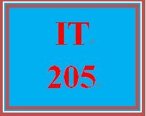 IT 205 Entire Course