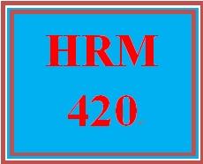 HRM 420 Week 5 HR Risk Management Strategy Plan
