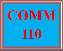 COMM 110 Week 4 Review Quiz