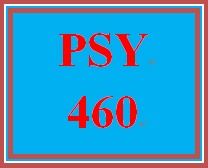 PSY 460 Week 1 Week One Short Answer
