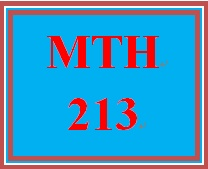 MTH 213 Week 5 Reflective Paper