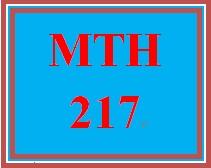 MTH 217 Week 5 Signature Assignment Presentation