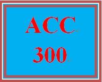 ACC 300 Week 5 Class Summary