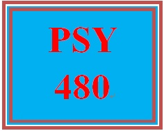 psy 480 entire course Refer to the university of phoenix material: professional interview and response guidelines, located on the student website, for assignment guidelines.