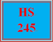 HS 245 Week 3 Supporting Activity Reading and Discussion
