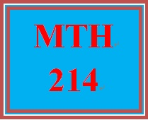 MTH 214 Week 4 MyMathLab Mastery Points Formative Assessment