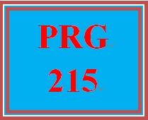 PRG 215 Week 3 Individual Conversion Program Updates