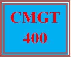 CMGT 400 Week 3 Learning Team: Review of IT Systems Development Practices