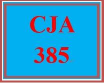 CJA 385 Week 3 Evaluation Model Paper