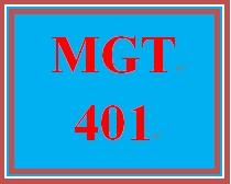 MGT 401 Week 2 LivePlan Executive Summary