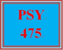 PSY 475 Week 2 Psychological Measure Paper