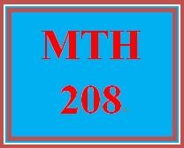 MTH 208 Week 1 Using MyMathLab®